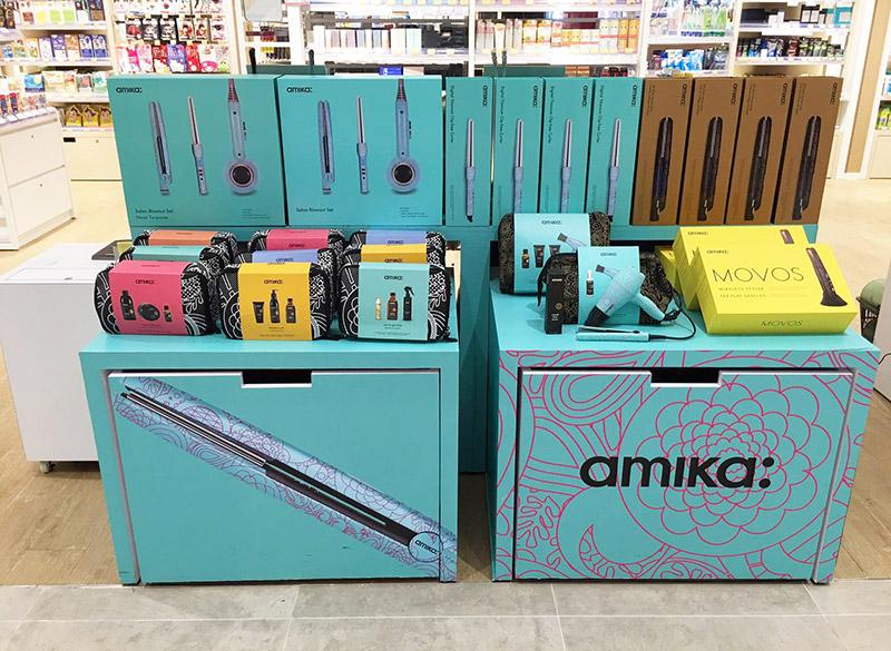 amika hair beauty display cube