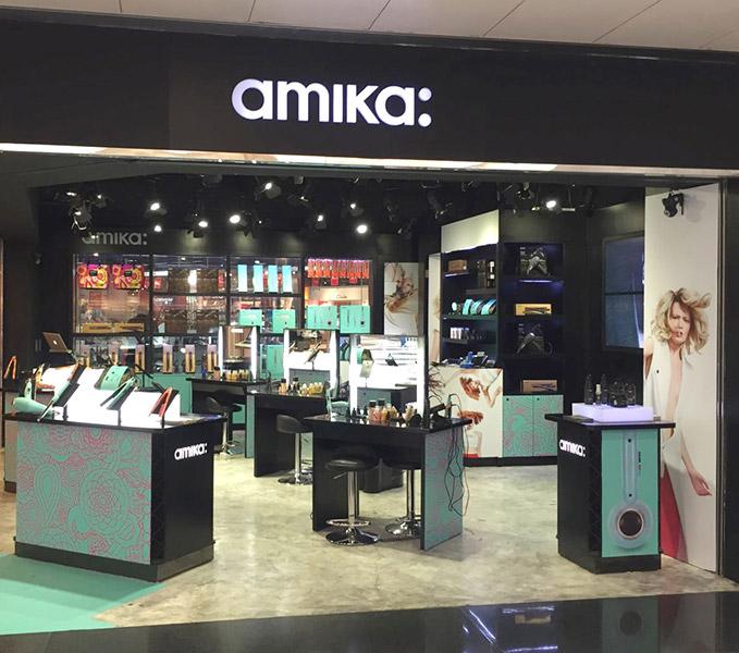 amika hair retail shop desgin