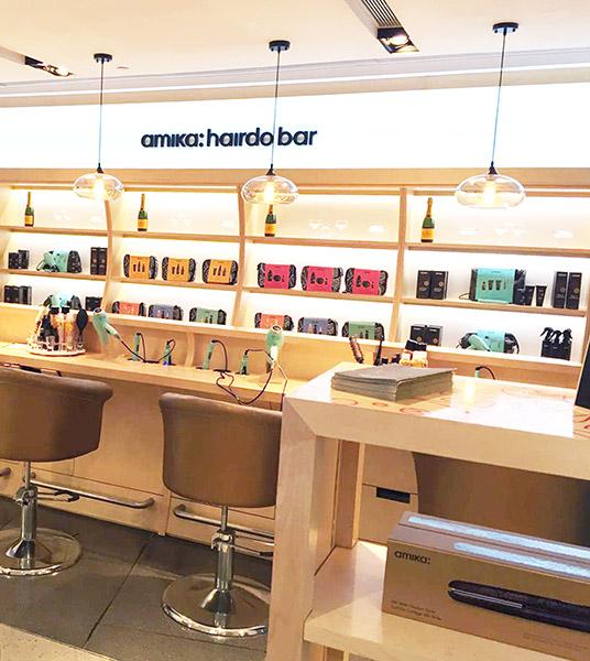 amika hair wall display cabinets