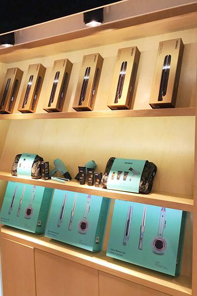 amika hair wall display cabients