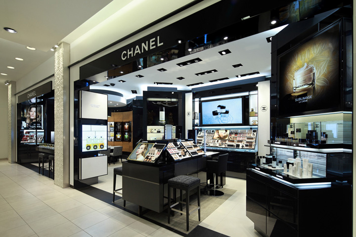 Black Wooden Chanel Cosmetics Store Design M2display Com