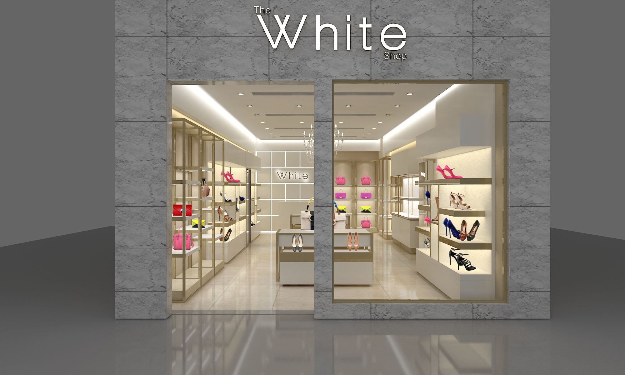 the White brass Jewelry shop design