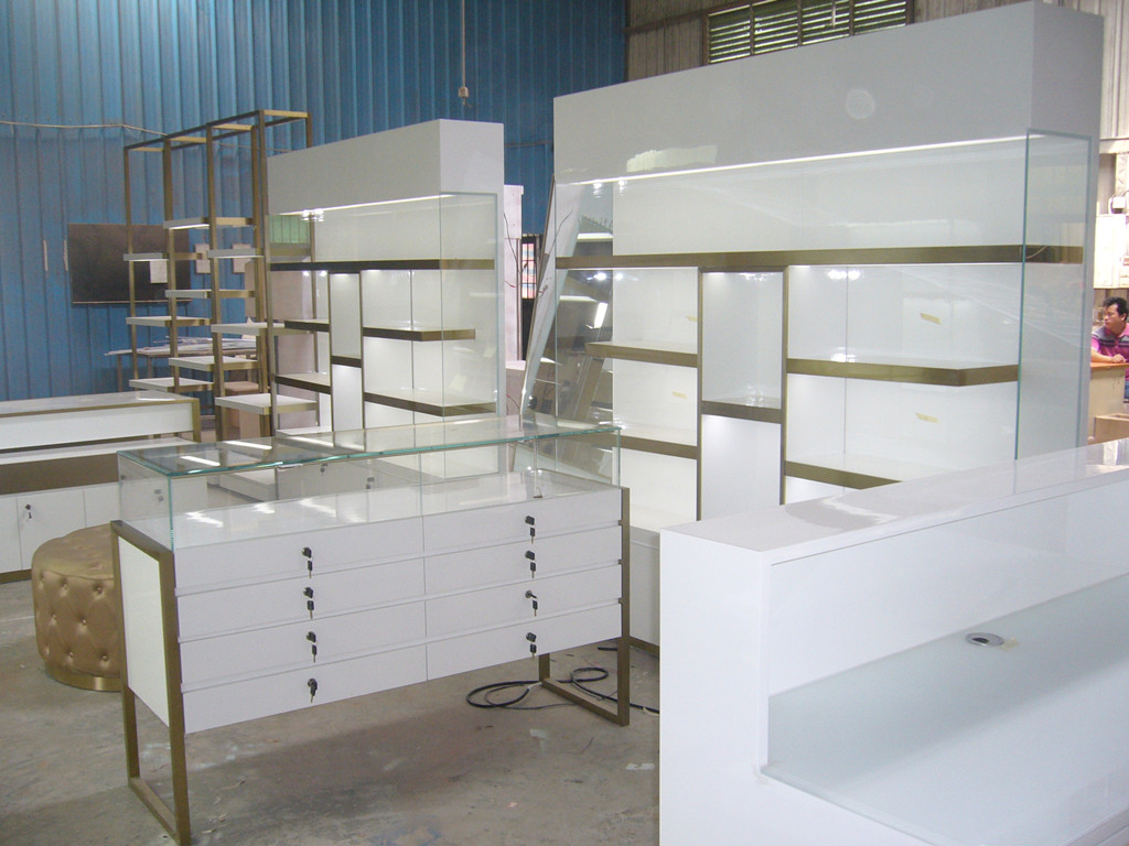 glass display counter for jewelry shop
