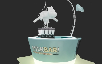 Milk Bar Tubular Mall Kiosk